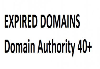Need expired domains DA 40+