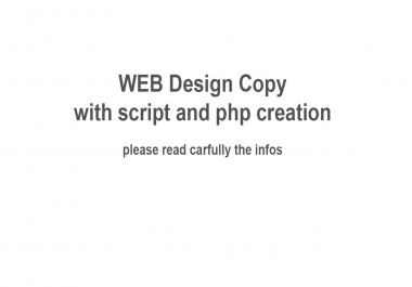 PHP Script and programmer with web design experience needed