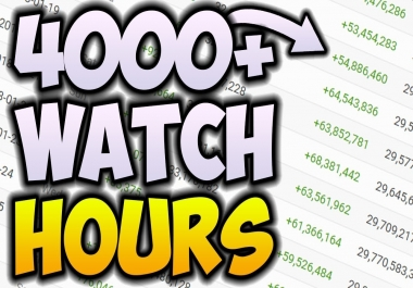 4000 Watch-time hours for a Channel