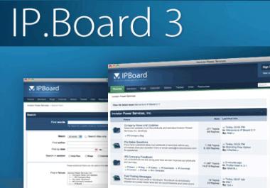 Add external header/footer to forum IP Board