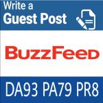 Publish guest post on buzzfeed. Com DA 93 PA79,  PR 8