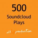 500 Soundcloud Plays Max Split on 4 Tracks