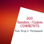 Add 500 Random Or Custom Comment For Insta gram only