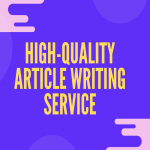 High-quality SEO article writing service