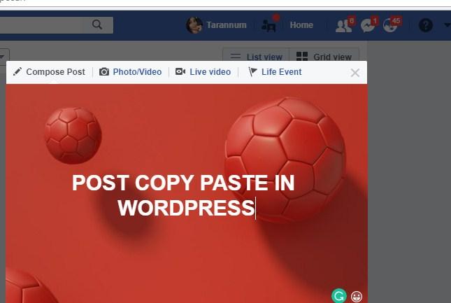 Post Copy Paste Job in WordPress