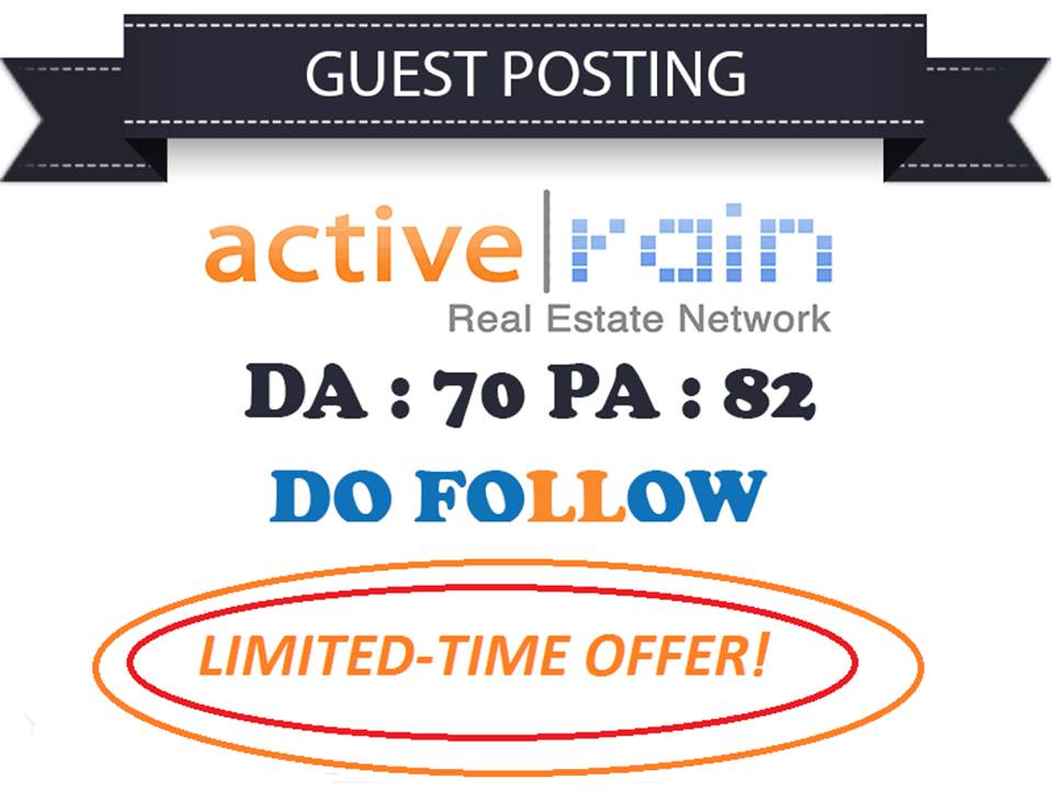 I Will Do Real Estate Guest Post On Activerain Dofollow